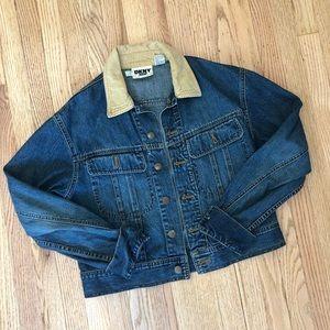 Vtg 90's DKNY denim jean jacket size M Medium